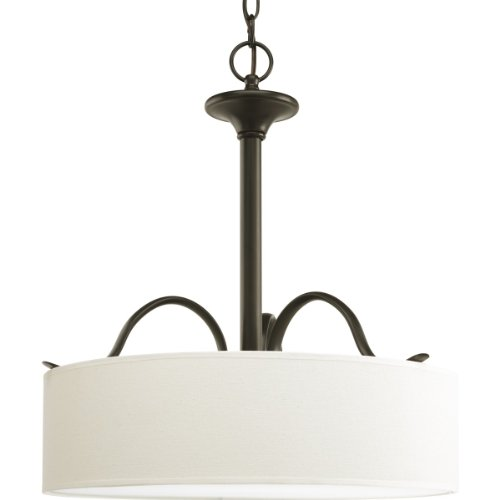 Progress Lighting P3931-20 Inspire Collection 3-Light Pendant, Antique (20 Bronze Crystal)