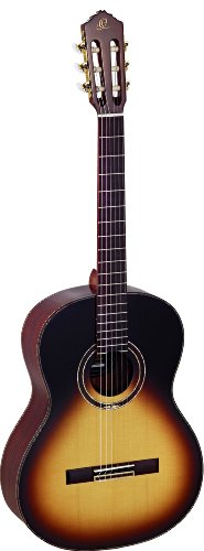 - Ortega Guitars R158SN-TSB Feel Series Slim Neck Nylon 6-String Guitar with Solid Spruce Top and Rosewood Body