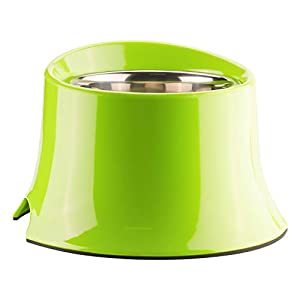 Super Design Elevated Dog Bowl Raised Dog Feeder for Food and Water S Green Click on image for further info.