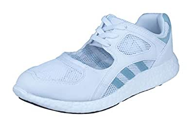 adidas Originals Equioment Racing 91/16 Womens Running Trainers/Shoes - Blue-White-6