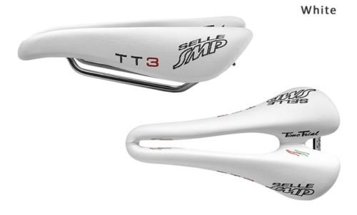 NEW Selle SMP TIME TRIAL Bicycle Saddle Seat - TT3 White . . . Made in Italy