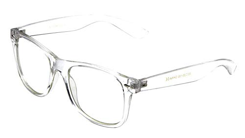 - Non-Prescription Eyeglasses Transparent Frame Clear Lens Glasses UV 400