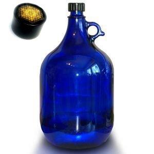 Wasserstelle GmbH Bayern Azul Botella de Cristal 2 litros con Flores de Perfección Pegatina en