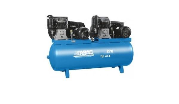 Compresor de aire ABAC bi-ãtagã 270 litros 11 bar, motor Tandem marca lente 2 x 4 CV: Amazon.es: Bricolaje y herramientas
