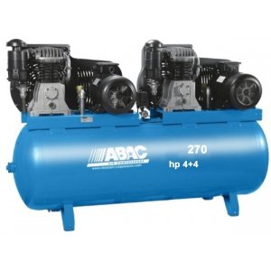 Compresor de aire ABAC bi-ãtagã 270 litros 11 bar, motor Tandem marca lente