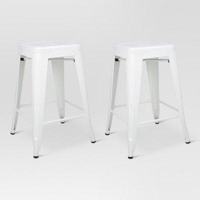 Pleasant Amazon Com Threshold Carlisle 24 Metal Counter Stool Creativecarmelina Interior Chair Design Creativecarmelinacom