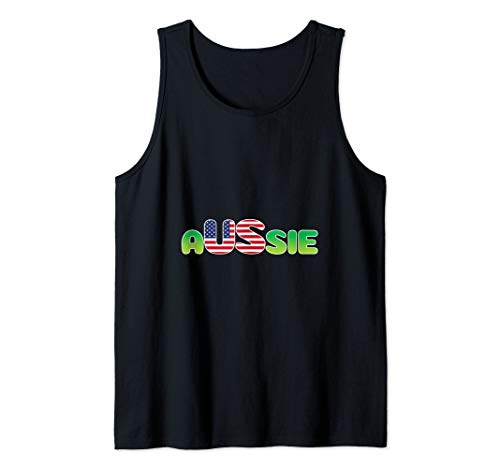 Aussie Shirt Australia in United States America Tank Top]()