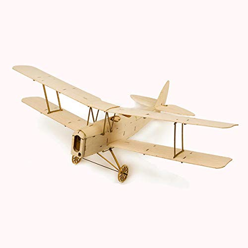 (Tiger Moth K10 400mm Wingspan RC Balsa Wood Laser Cut RC Airplane Building Kit - RC Toys & Hobbies RC Airplane -1X Tiger Moth K10 Mini Balsa Wood Model Airplane)
