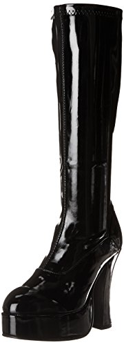 (Ellie Shoes Women's Chacha Boot, Black Patent, 7 M US)