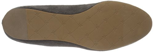 Jack Rogers Mujeres Anice Suede Ballet Plano Gris Oscuro