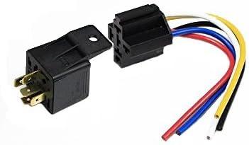 Wire Socket Car Automotive Alarm 40 AMP NEW US 5 PCS 12 Volt 30//40A SPDT Relay