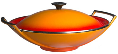 (Le Creuset 14-Inch Wok with Lid,)