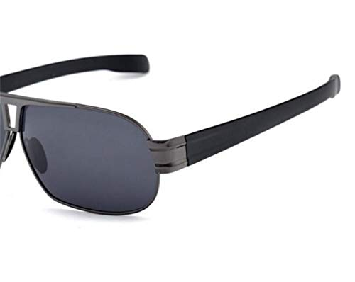 sol protección que de polarizadas gafas de FlowerKui sol Marco de libre de metal de unisex las aire al gafas las Grey Gafas conduce UV400 para FWUOWvT