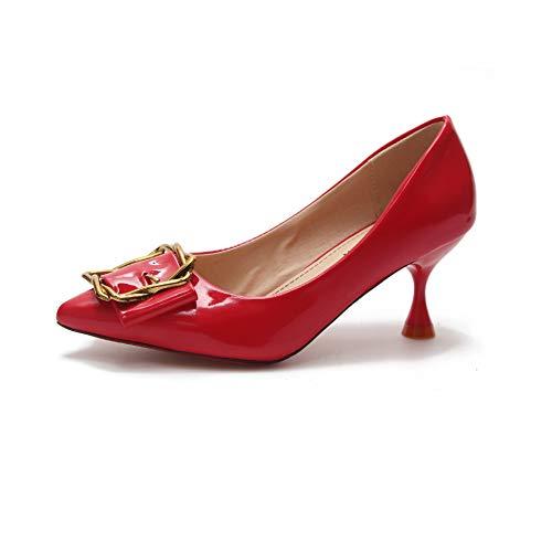 Otoño Las Femenino Yukun Mujeres de Los con Zapatos Los Es Fino Apretones Moda De De De Los De Las Zapatos Estilete Mujeres Delgado De zapatos Red alto Señora tacón del La q1w5ZCq