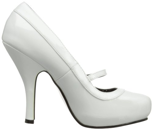 Pleaser Pinup Couture Cutiepie-02 Dame Pumps Weiß (wht Pat) RA23kiQo