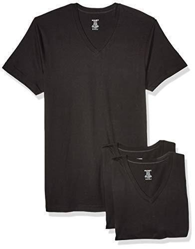 2(X)IST Men's 3 Pack V-Neck Tee Underwear, Black, X-Large