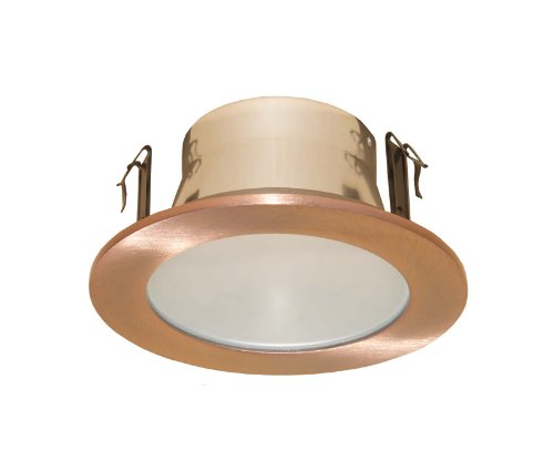 4 Inches Frosted Lens Shower Trim for Line Voltage Recessed Light-(Copper)- Fit Halo / Juno