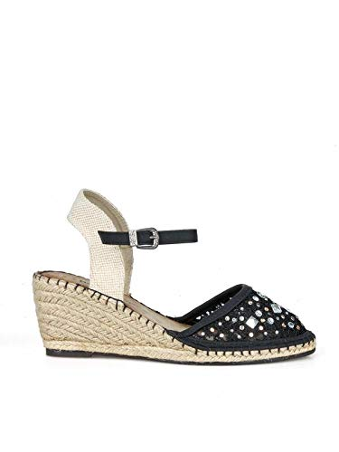 52776672b7b Amazon.com | Nature Breeze Nomad01 Lace Women's Espadrille Wedge in ...