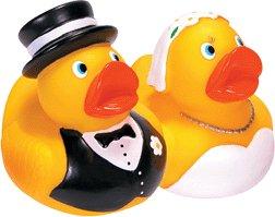 Bride Groom Rubber Duckies - Schylling Bride & Groom Rubber Duck Set
