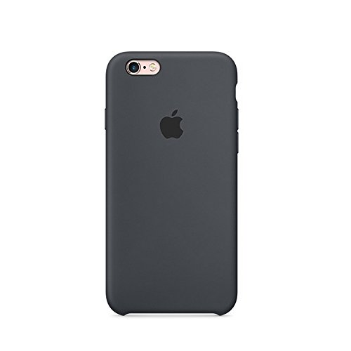 Case Black Phone Cover Silicone (Optimal shield Soft Leather Apple Silicone Case Cover for Apple iPhone 6 /6s (4.7inch) Boxed- Retail Packaging (Charcoal Grey))