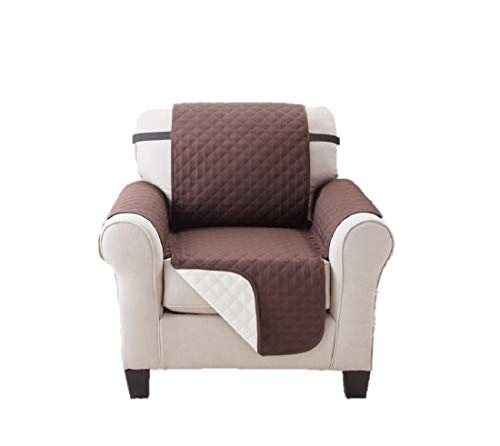 Deluxe Reversible Recliner Furniture Protector, Coffee / Tan 65