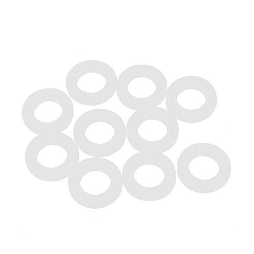 Gasket Ring (Flyshop 10 Pcs Clear White Silicone Sealing Rings O Ring Gasket 0.75