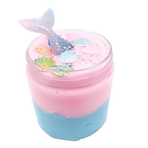 BODOAO Kawaii Slime Beautiful Mermaid Mud Mixing Cloud Slime Putty Scented Stress Kids Clay Toy Slime kit]()
