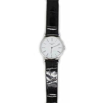 Uhr Longines Damen l42094112 Quarz (Batterie) Stahl Quandrante weiß Armband Leder