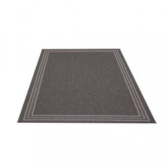 Flachgewebe Teppich Natura Uni schwarz 140 x 200 cm