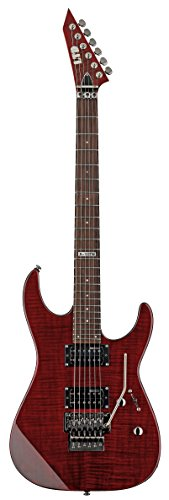 ESP LTD M100FM Electric Guitar, See Thru Black Cherry