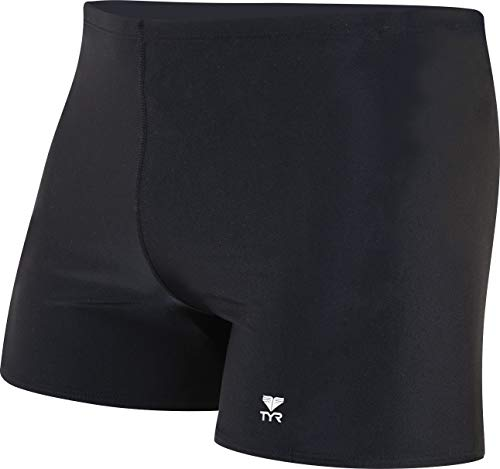 TYR Sport Men's Square Leg Short Swim Suit,Black,34