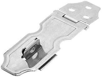 New Lon0167 Heavy Safety Featured Padlock Latch Hasp reliable efficacy and Staple Silvery(id:cf1 ec 23 8c9)
