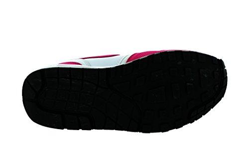 Nike Womens Air Max 1 Scarpa Da Corsa Essenziale Bianca / Sport Fucsia / Nero