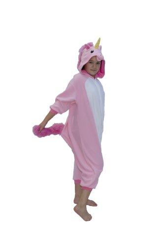 [Pink Unicorn Kids Kigurumi (5-9 Years)] (Greatest Halloween Costumes Ever)