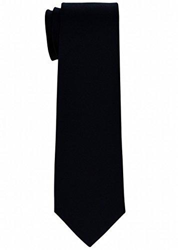 Boys Black Necktie (Retreez Solid Plain Color Woven Boy's Tie (8-10 years) - Black)