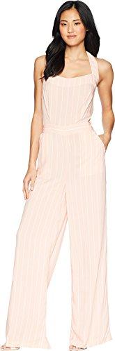 Juicy Couture Black Label Womens Halter Wide Leg Jumpsuit Pink 4