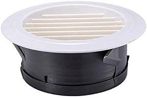 Hon&Guan ø125mm Ronda Rejilla de Ventilación ABS con Protección Contra Insectos, Respiraderos de Láminas para Baño Habitación Oficina (ø125mm): Amazon.es: Bricolaje y herramientas