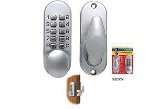 Sterling S2230V Sterling Compact Digital Door Lock, Silver Sterling Door Locks