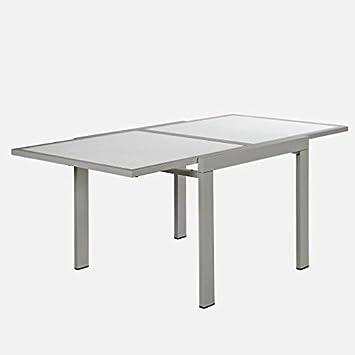 Arredinitaly Table Carre Extensible A Livre 90 180 Acier Laque