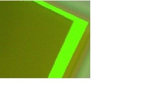 "GREEN FLUORESCENT ACRYLIC PLEXIGLASS 1//8/"" X 24/"" X 24/"" PLASTIC SHEET"