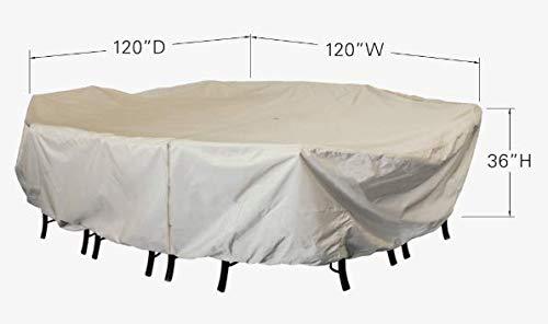 Treasure Garden 72 Inches Square Table & Chairs 8 Ties Umbrella Hole CP598