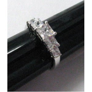 - R. S. Covenant Rings 4384 5- Stone Princess Cut CZ Ring Size 9