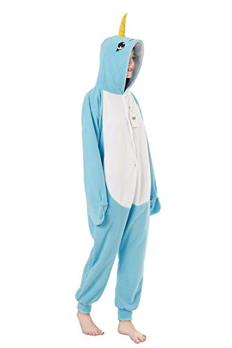 XVOVX Adults and Children Animal Narwhal Unicorn Cosplay Costume Pajamas Onesies Sleepwear ()