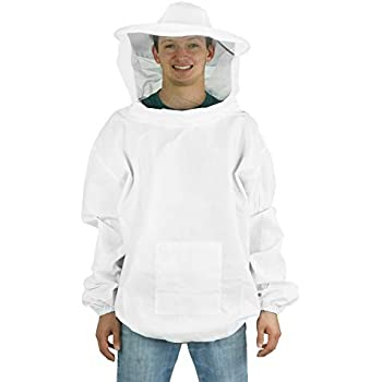 VIVO Professional White Extra Large (XL) Beekeeping/Bee Keeping Suit, Jacket, Pull Over, Smock with a Veil (BEE-V105XL)