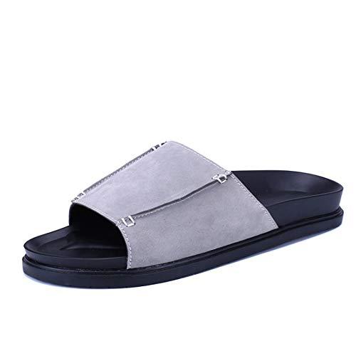 Nero EU 3 Casual Da Uomo pantofole Colore Dimensione Da Grigio 2 Spiaggia Pantofole Scarpe da Scarpe 40 Comode Wagsiyi spiaggia Outdoor Shoes Leather pFq1anR
