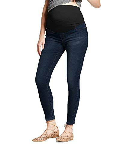 HyBrid & Company Super Comfy Stretch Women's Skinny Maternity Jeans PM4822S Dark WASH1 Medium