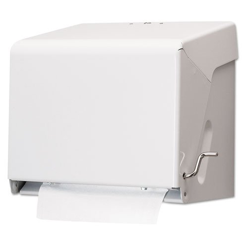 ll Towel Dispenser, White, Steel, 10 1/2 X 11 X 8 1/2 (Crank Roll Towel Dispenser)