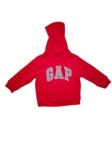 (GAP Little Boys Pullover Hoodie (5, Red))