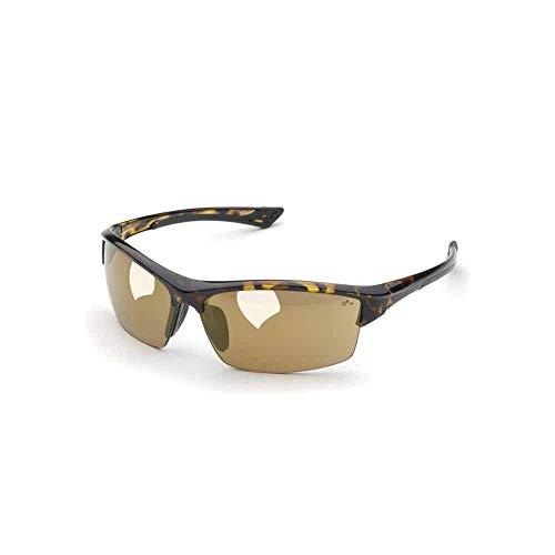 Elvex Sonoma Safety Glasses-Tortoise Shell Frame-Light Gold Mirror Lens (Bundle of 4) - SG-350M ()