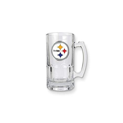 (NFL Steelers 1-liter Glass Macho Tankard)
